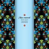 Kwiecista etniczna rocznik karta abstrakcyjny kwiecisty ornament Zdjęcia Royalty Free