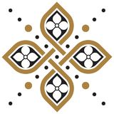 Kwiecista geometryczna deseniowa tapeta ilustracja wektor