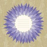 Kwiecista karta w wektorze Zdjęcia Royalty Free