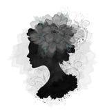 Kwiecista kobieta ilustracji