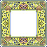 Kwiecista kwadrat rama Biel przestrzeń w Centre Fotografia Royalty Free