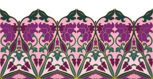Kwiecista ornamentacyjna granica Obraz Royalty Free