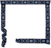 Kwiecista ornamentacyjna tkaniny rama Obrazy Royalty Free