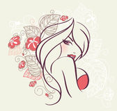 kwiecista piękno kobieta Zdjęcie Royalty Free
