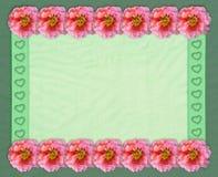 Kwiecista prostokątna rama z tiulowym tłem Obraz Royalty Free