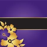 Kwiecista purpury karta Zdjęcie Royalty Free