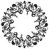 Kwiecista rama, azjata ornamenty, tatuaż, wektorowa ilustracja royalty ilustracja