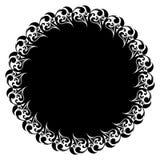 Kwiecista rama, azjata ornamenty, tatuaż, wektorowa ilustracja Fotografia Royalty Free