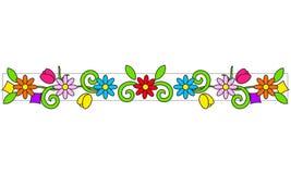 Kwiecista rama jaskrawi kolory Fotografia Stock