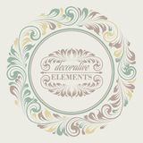 Kwiecista rama z dekoracyjnymi elementami Zdjęcia Royalty Free