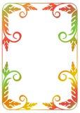 Kwiecista rama z gradientową pełnią Fotografia Royalty Free