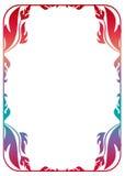 Kwiecista rama z gradientową pełnią Obrazy Royalty Free