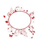 kwiecista ramowa czerwień Zdjęcia Royalty Free