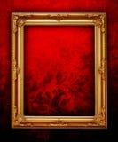 kwiecista ramowa złota ściana Obraz Royalty Free
