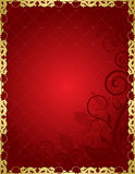 kwiecista tło czerwień ilustracji