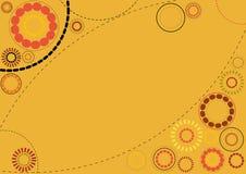 kwiecista tło pomarańcze Fotografia Stock