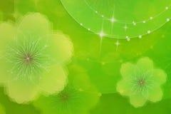 kwiecista tło zieleń Zdjęcia Stock