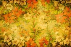 Kwiecista tkanina wyplata teksturę Zdjęcie Stock