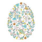 Kwiecista Wielkanocna karta ilustracji