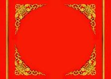 Kwiecista wzór rama Obrazy Royalty Free