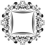 Kwiecista wzór rama. Czarny i biały Fotografia Royalty Free