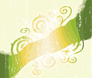 kwiecista zieleń paskuje zawijasy Fotografia Stock