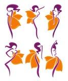 Kwieciste dziewczyny royalty ilustracja
