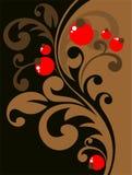 kwieciste jagod krzywy ilustracja wektor