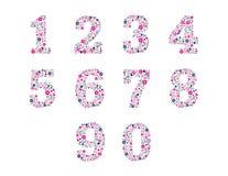 Kwieciste Liczby Obrazy Stock