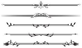 kwieciste linie reguła ornamentacyjny set royalty ilustracja