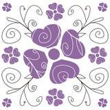 kwieciste purpurowy royalty ilustracja