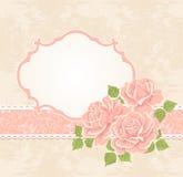kwieciste tło róże Zdjęcia Royalty Free