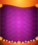 kwieciste tło purpury Zdjęcia Royalty Free