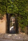 Kwieciste ulicy Spello w Umbria, Włochy Zdjęcia Stock