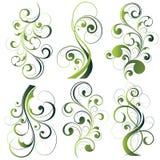 kwieciste zielone ilustracje royalty ilustracja