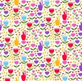 Kwiecistego dekoracyjnego doodle wektoru bezszwowy wzór Fotografia Royalty Free