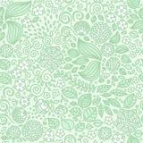Kwiecistego doodle tapetowy bezszwowy wzór Fotografia Royalty Free