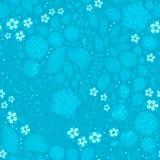 Kwiecistego doodle tapetowy bezszwowy wzór Obrazy Royalty Free