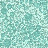 Kwiecistego doodle tapetowy bezszwowy wzór Zdjęcie Stock