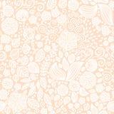 Kwiecistego doodle tapetowy bezszwowy wzór Zdjęcia Royalty Free