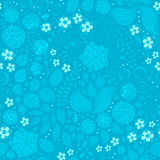 Kwiecistego doodle tapetowy bezszwowy wzór Obraz Royalty Free