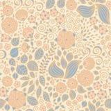 Kwiecistego doodle tapetowy bezszwowy wzór Fotografia Stock