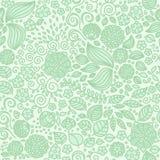 Kwiecistego doodle tapetowy bezszwowy wzór Obraz Stock