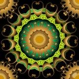 Kwiecistego grka Paisley mandalas wektorowy bezszwowy wzór Kolorowy ornamentacyjny dekoracyjny tło Piękny elegancja grka klucz ilustracji