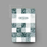 Kwiecistego ornamentu broszurki wektorowy szablon Ulotka układ ilustracja wektor