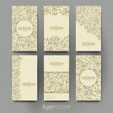 Kwiecistego ornamentu broszurki wektorowy szablon Ulotka układ royalty ilustracja