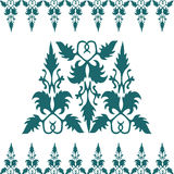 Kwiecistego ornamentu Kaligraficzny projekt Zdjęcie Royalty Free