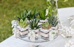 Kwiecistego przygotowania skład dla poślubiać bankietować Fotografia Stock