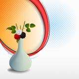 Kwiecistego przygotowania tło z ładnymi różami royalty ilustracja