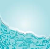 Kwiecistego zaproszenia modrozielony turkusowy tło Zdjęcia Stock
